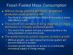 fossil fueled mass consumption