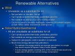 renewable alternatives