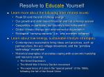 resolve to educate yourself