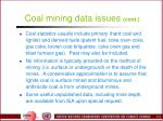 coal mining data issues cont