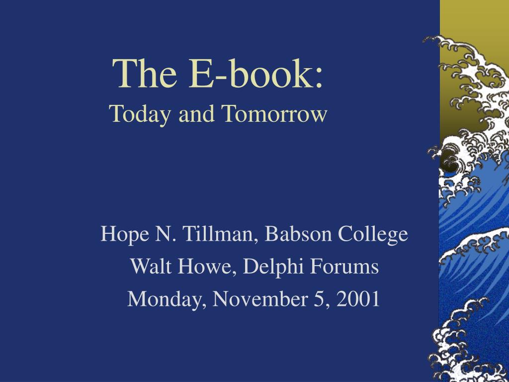 the e book today and tomorrow l.