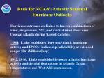 basis for noaa s atlantic seasonal hurricane outlooks