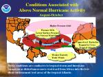 conditions associated with above normal hurricane activity