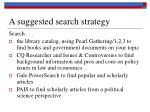 a suggested search strategy