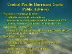 central pacific hurricane center public advisory