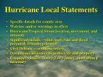 hurricane local statements