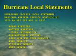 hurricane local statements35