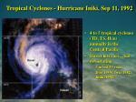 tropical cyclones hurricane iniki sep 11 1992