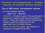 dinamiche socio demografiche e fenomeni migratori nel sistema sanitario italiano