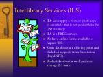 interlibrary services ils