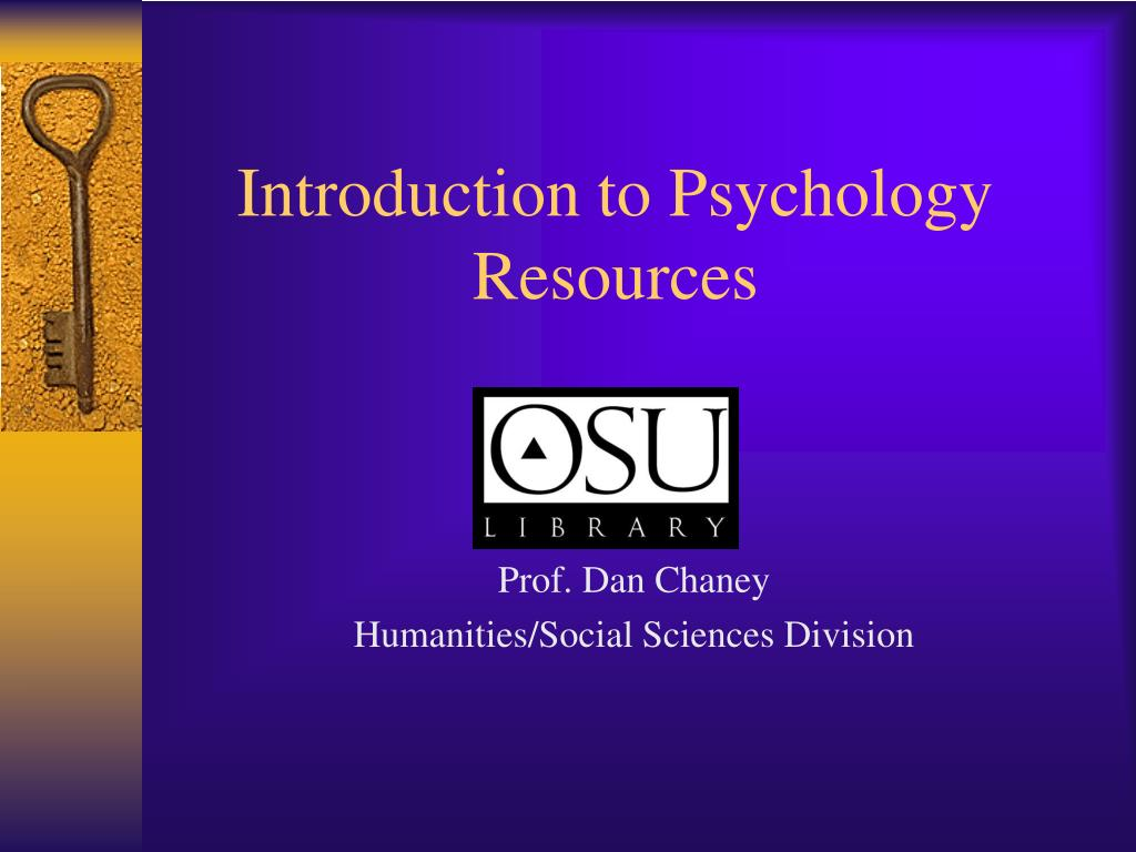 introduction to psychology resources l.