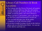 library call numbers book locations