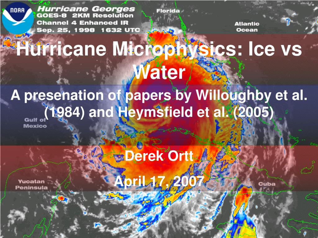 hurricane microphysics ice vs water l.