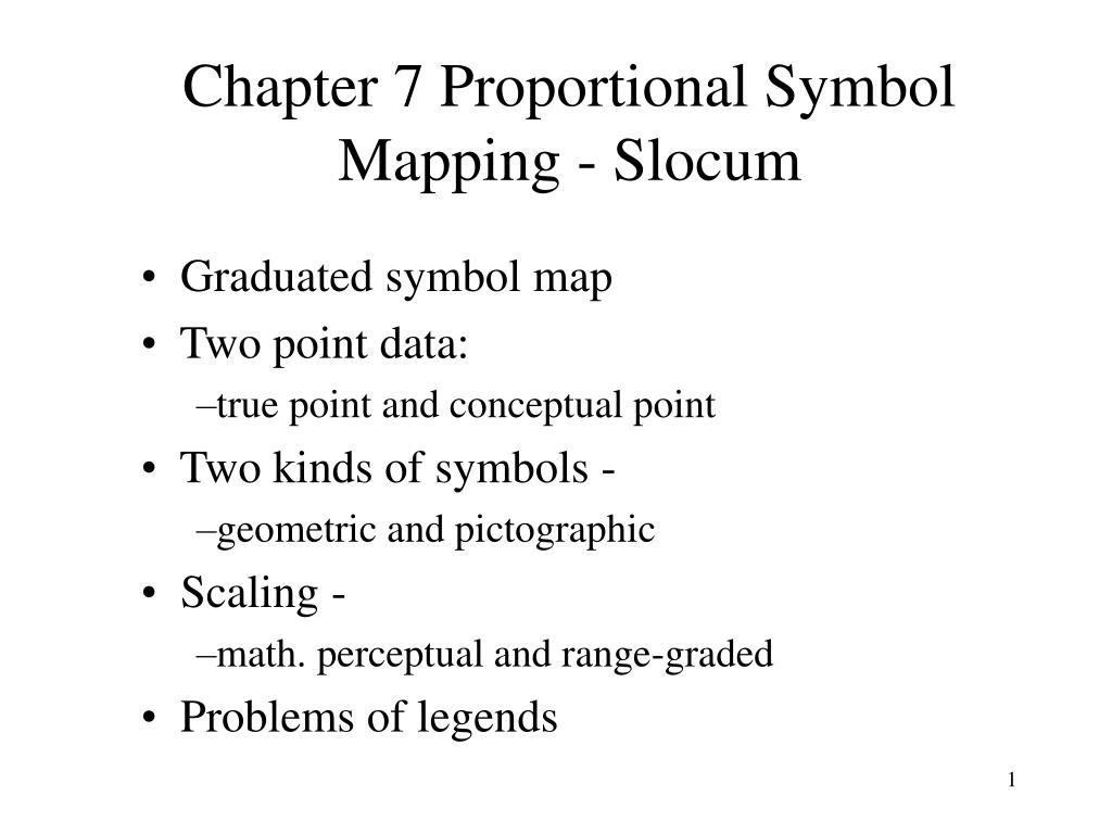 PPT - Chapter 7 Proportional Symbol Mapping - Slocum ...