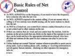 basic rules of net control