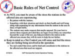 basic rules of net control10