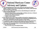 national hurricane center advisory and updates