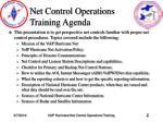 net control operations training agenda