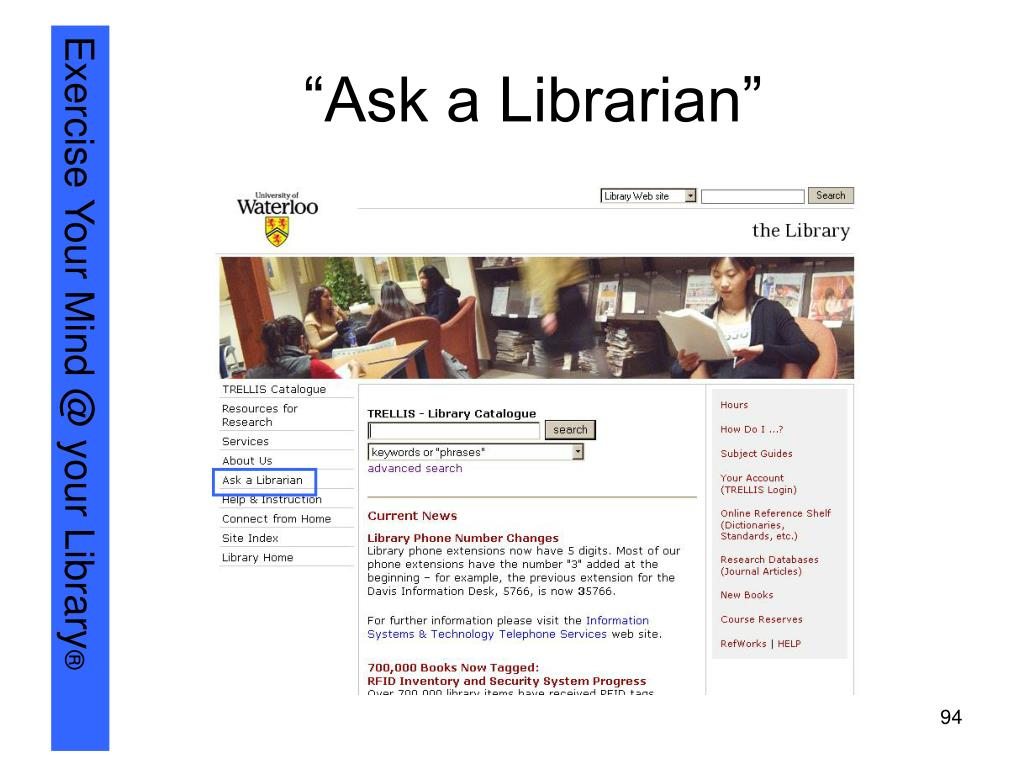 """""""Ask a Librarian"""""""