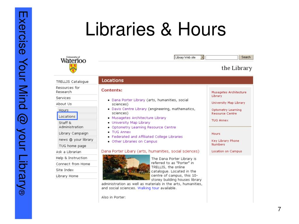 Libraries & Hours