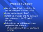 prediction difficulty