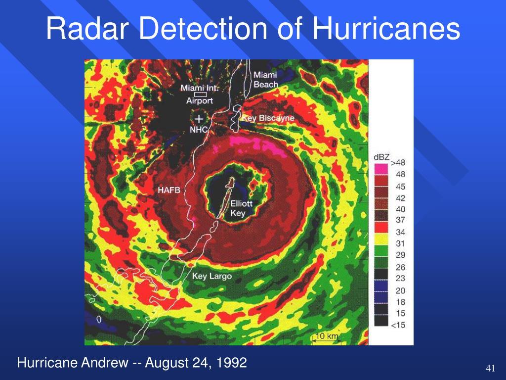 Radar Detection of Hurricanes