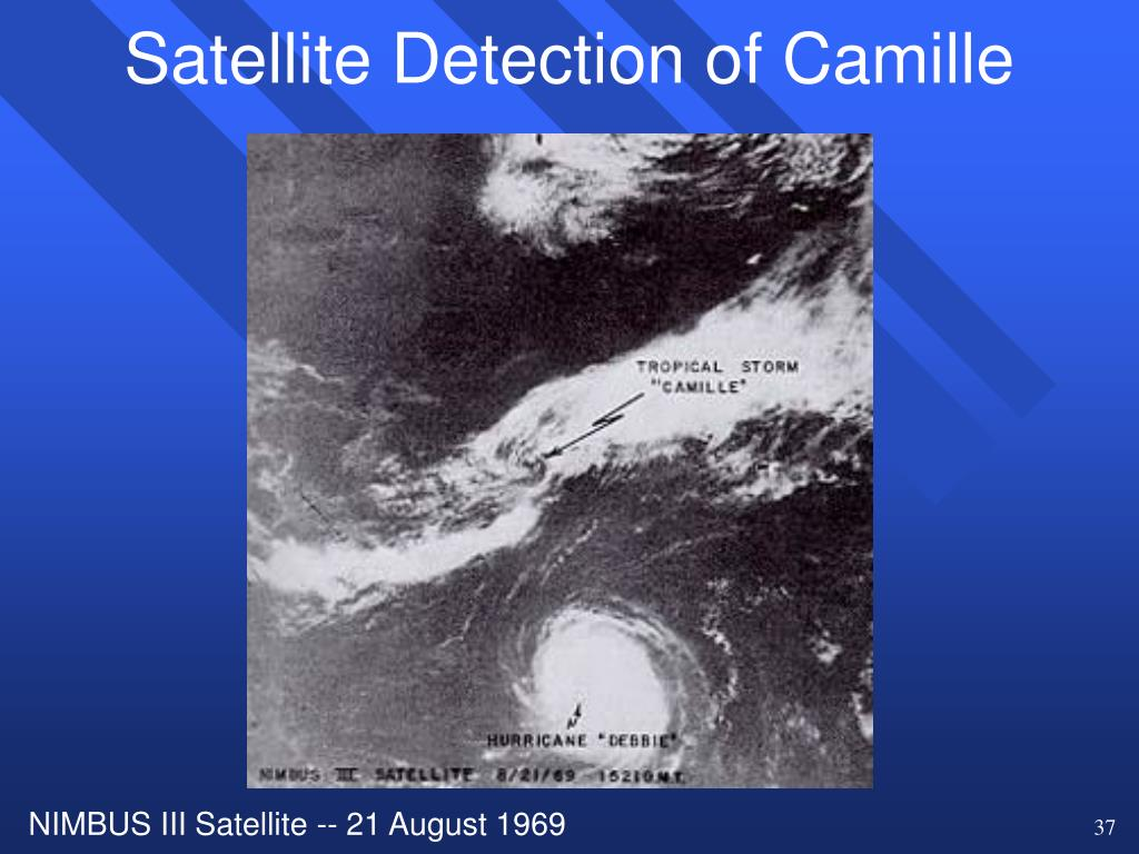 Satellite Detection of Camille