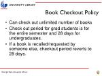 book checkout policy