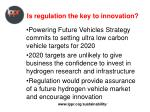 is regulation the key to innovation