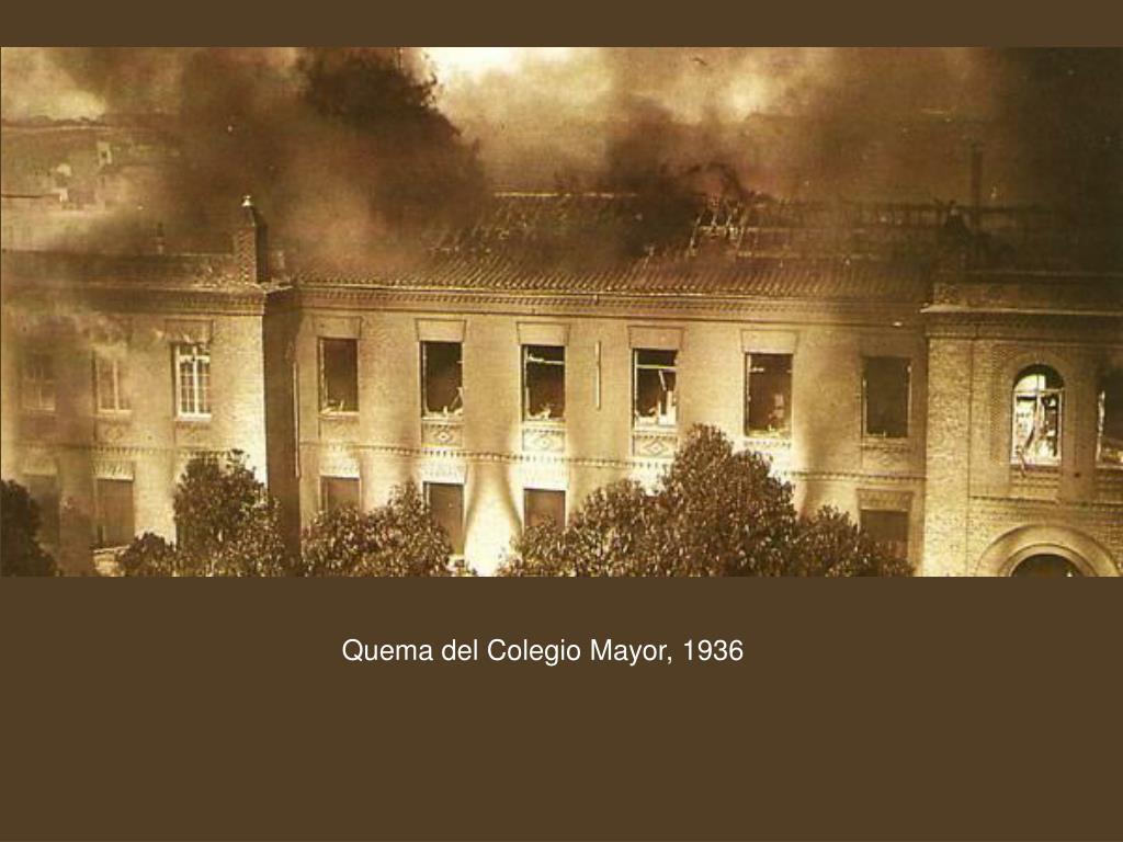 Quema del Colegio Mayor, 1936
