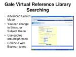 gale virtual reference library searching