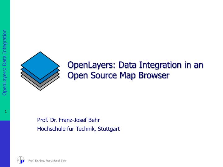 openlayers data integration in an open source map browser n.