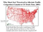 why short sea perceived to alleviate traffic congestion canada to us truck tons 2001