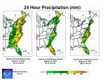 24 hour precipitation mm