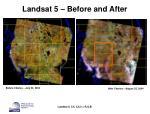 landsat 5 before and after