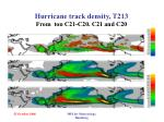 hurricane track density t213 from top c21 c20 c21 and c20
