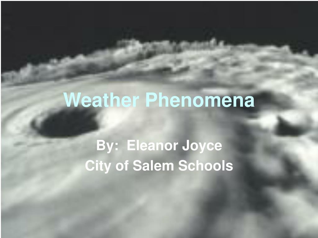 weather phenomena l.