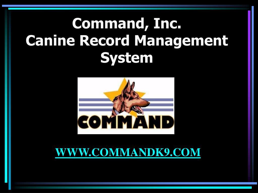 Command, Inc.