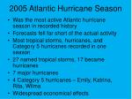2005 atlantic hurricane season