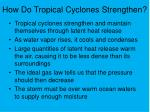 how do tropical cyclones strengthen