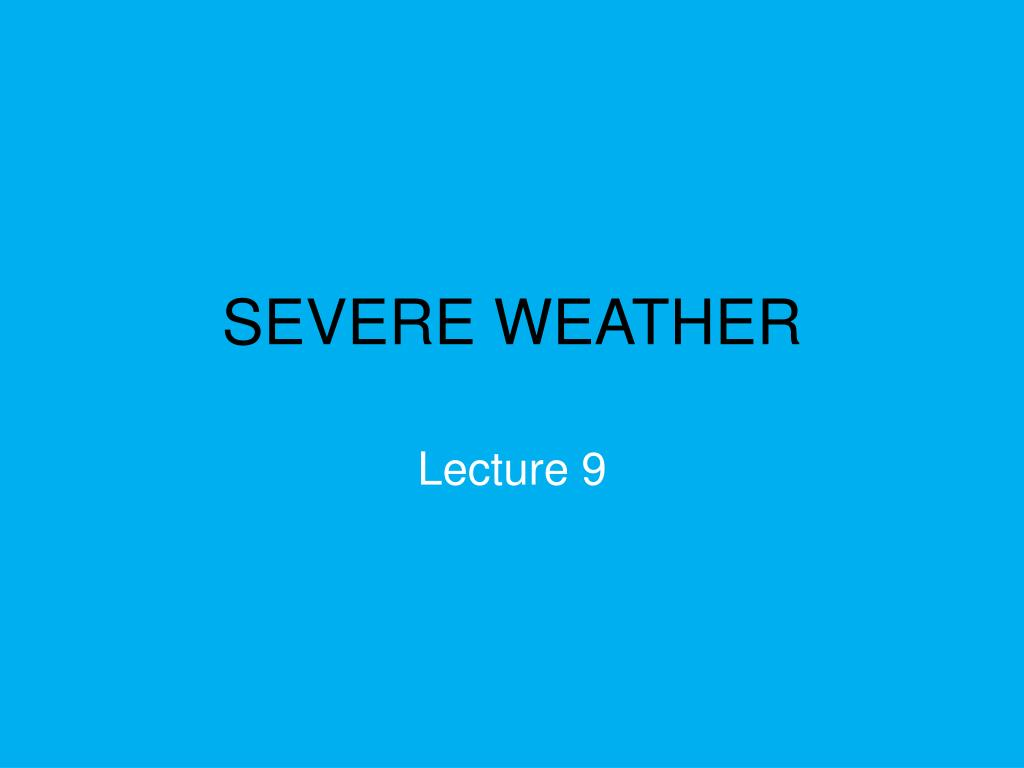 severe weather l.
