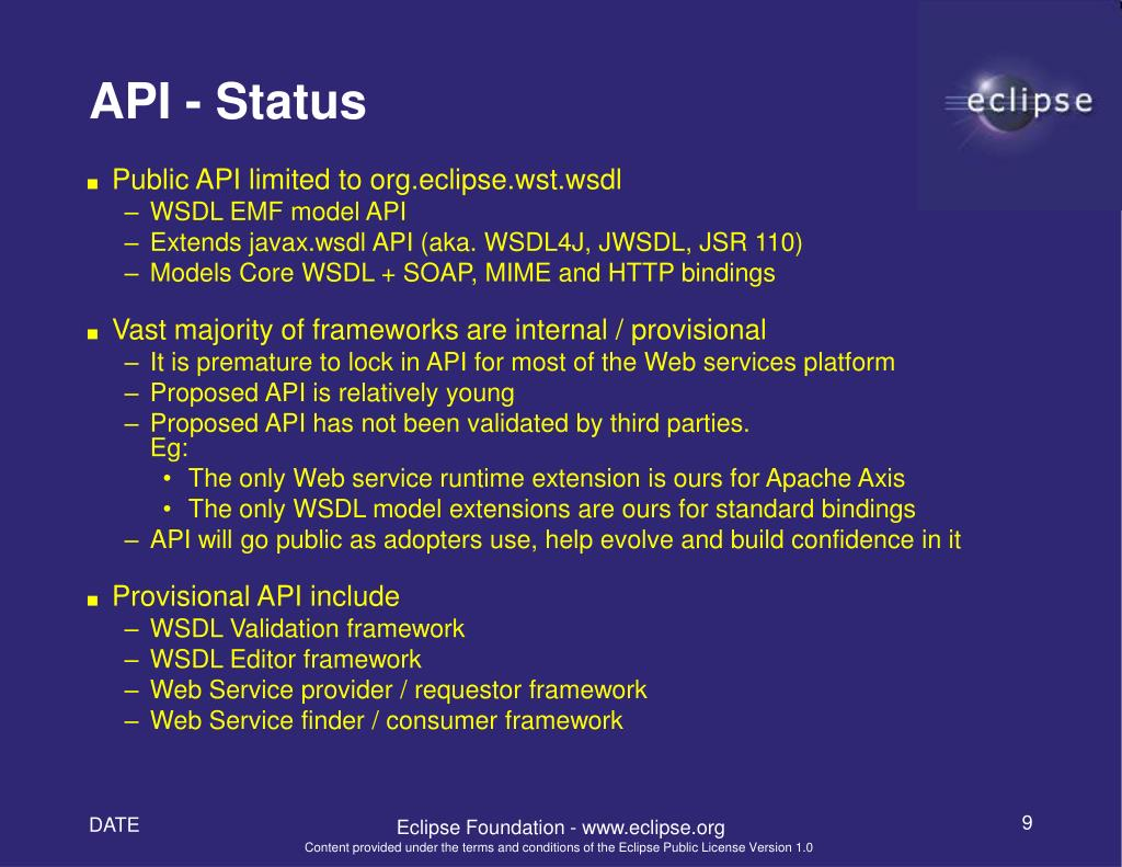 PPT - Eclipse WTP Project Web Service Tools Open House