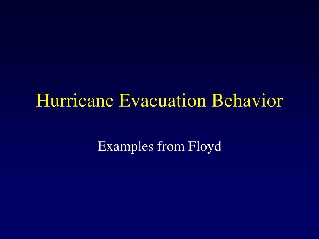 hurricane evacuation behavior l.