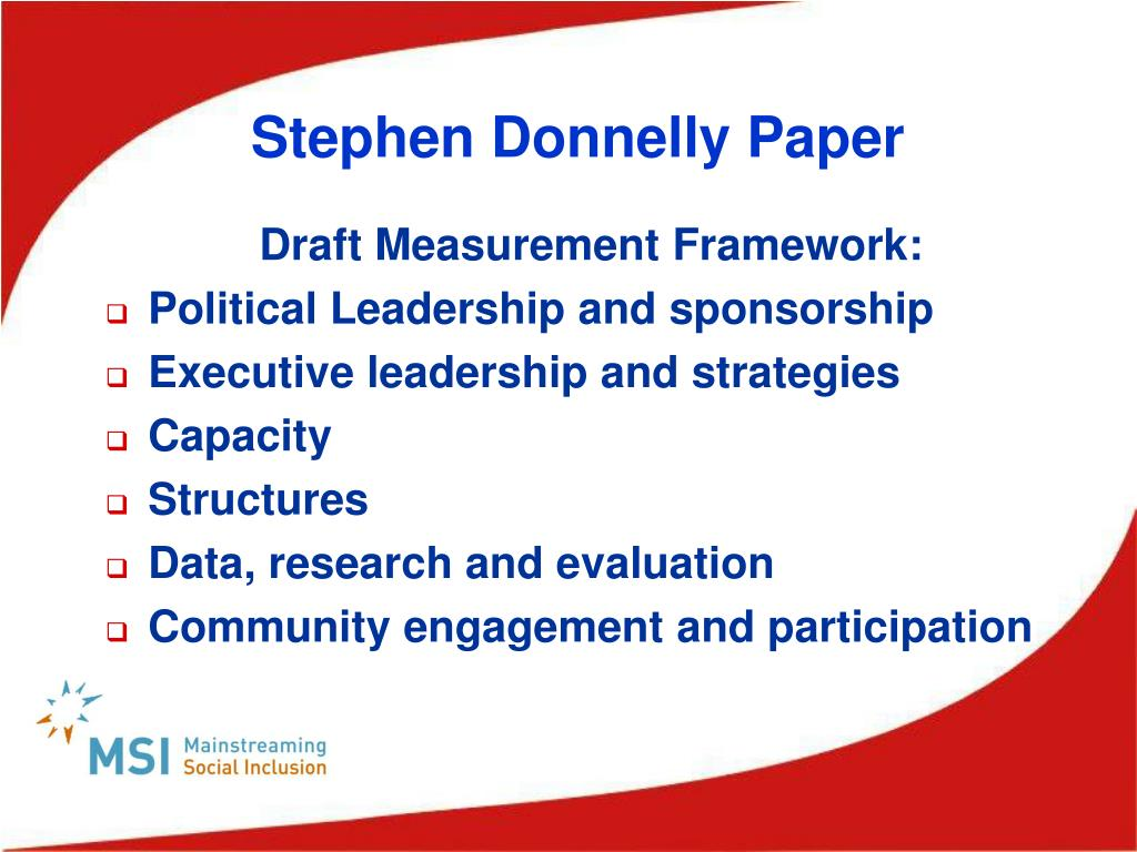 Stephen Donnelly Paper