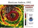 hurricane andrew 199254