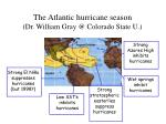 the atlantic hurricane season dr william gray @ colorado state u