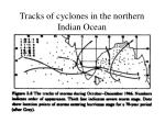 tracks of cyclones in the northern indian ocean