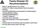 family disaster kit recommendations