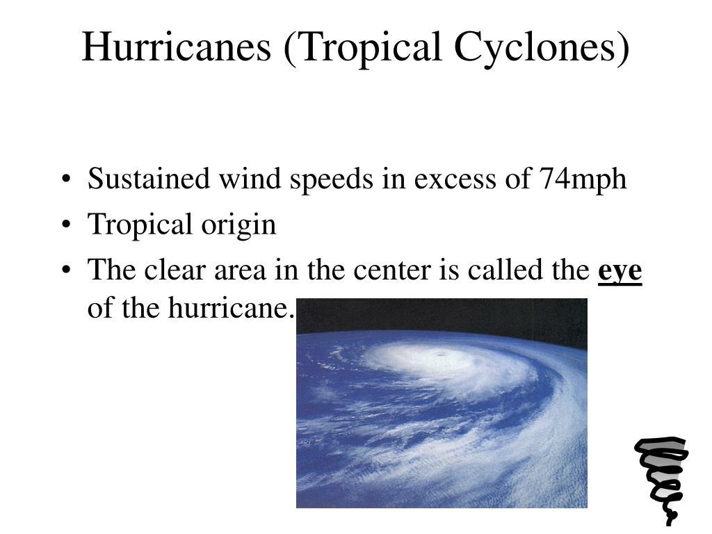 Hurricanes (Tropical Cyclones)