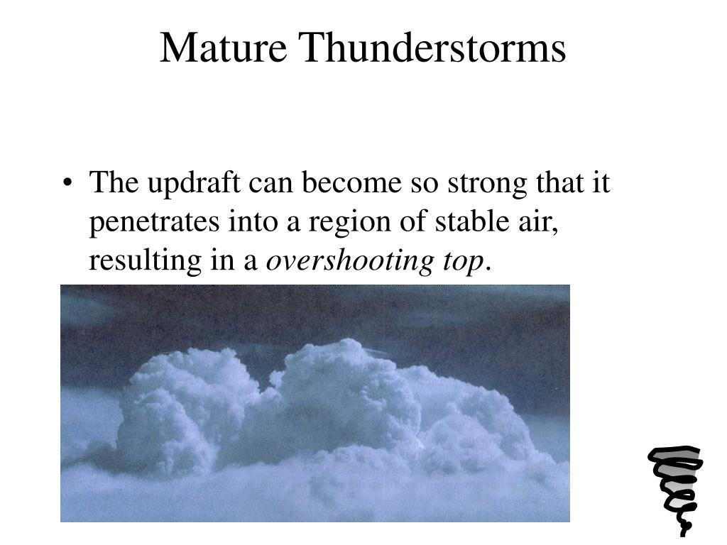 Mature Thunderstorms